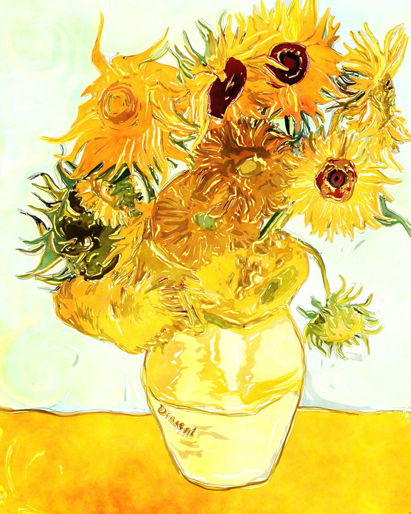 凡高《向日葵》